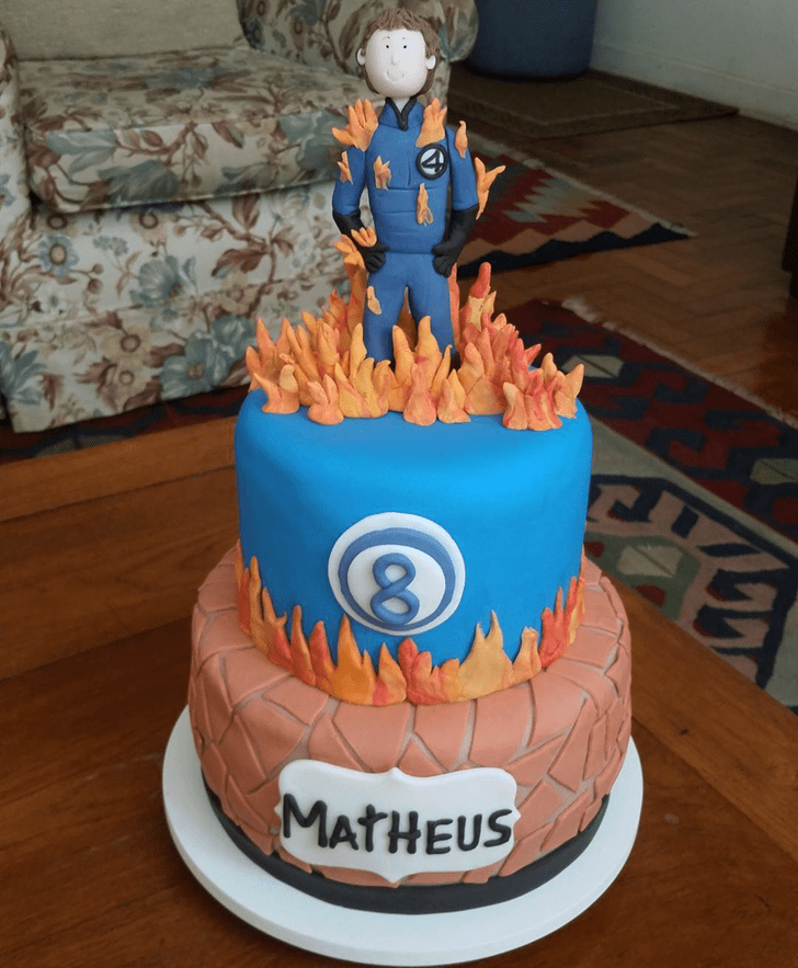 Captivating Fantastic Four Cake