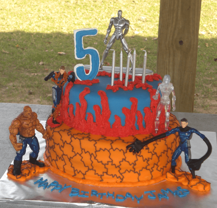 Charming Fantastic Four Cake
