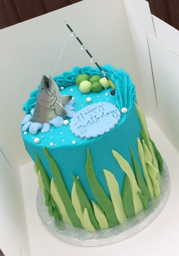 Admirable Fishing Cake Design