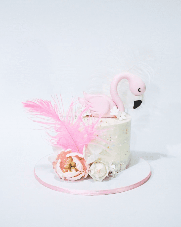 Captivating Flamingo Cake