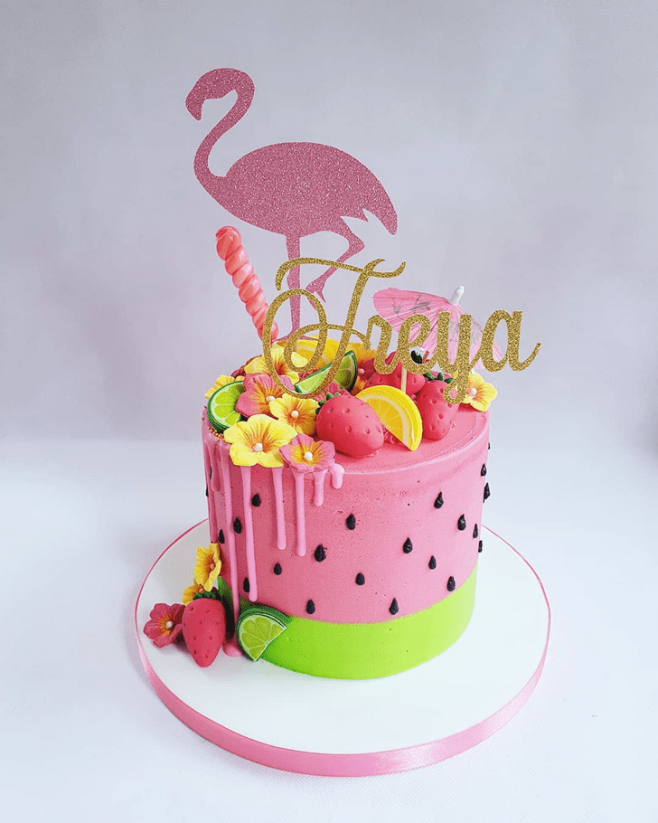 Charming Flamingo Cake
