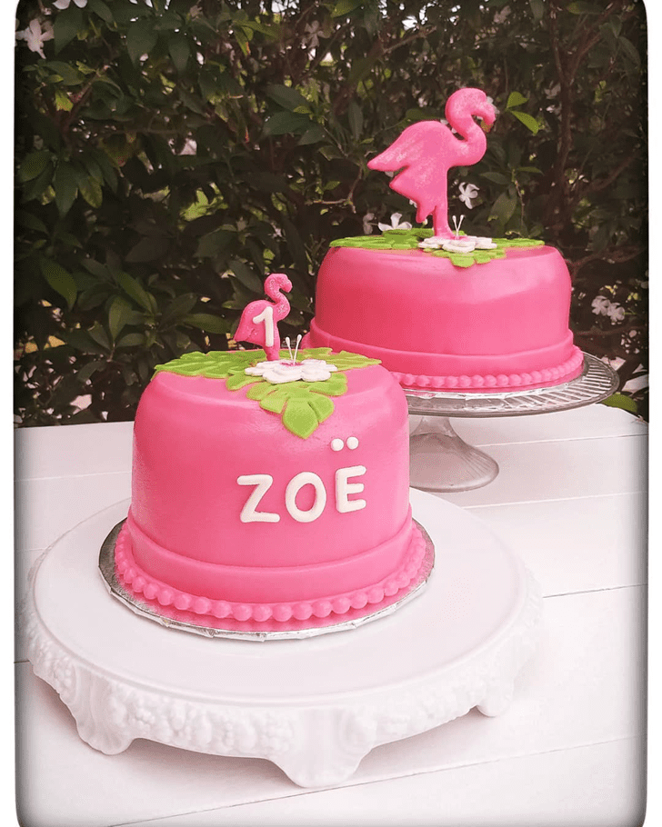 Fair Flamingo Cake
