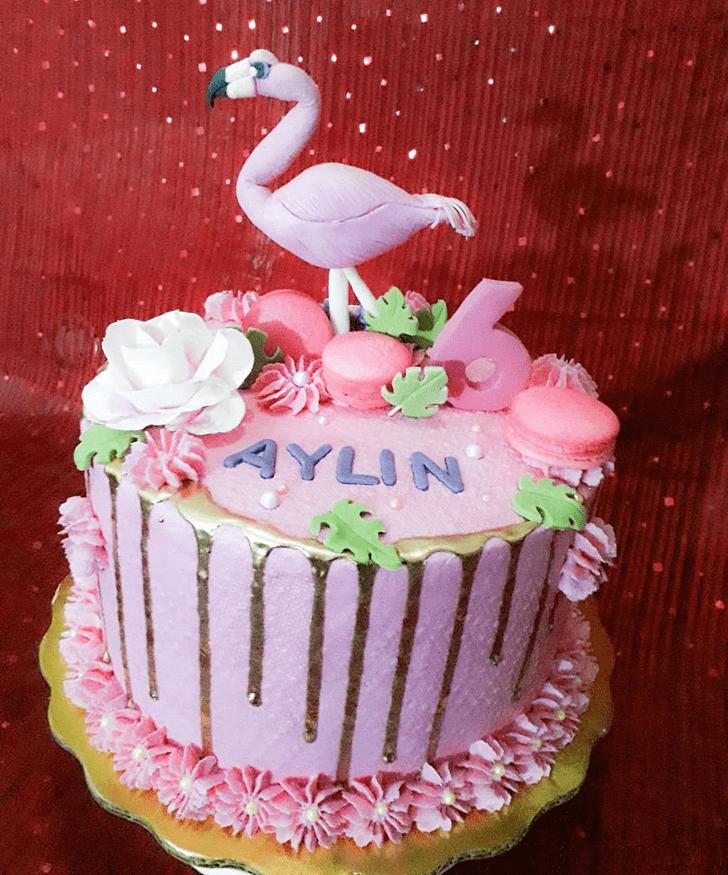 Fetching Flamingo Cake