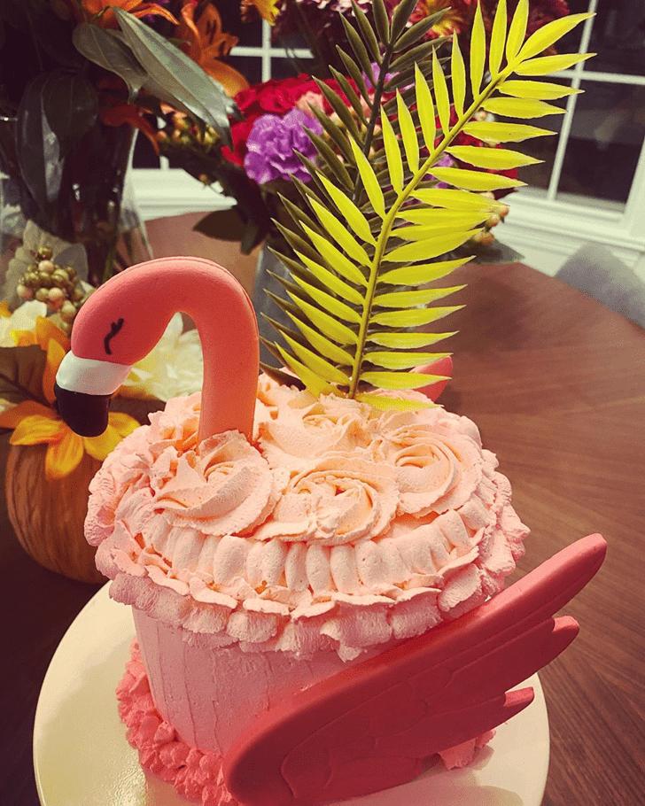 Gorgeous Flamingo Cake