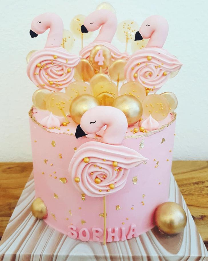 Magnetic Flamingo Cake