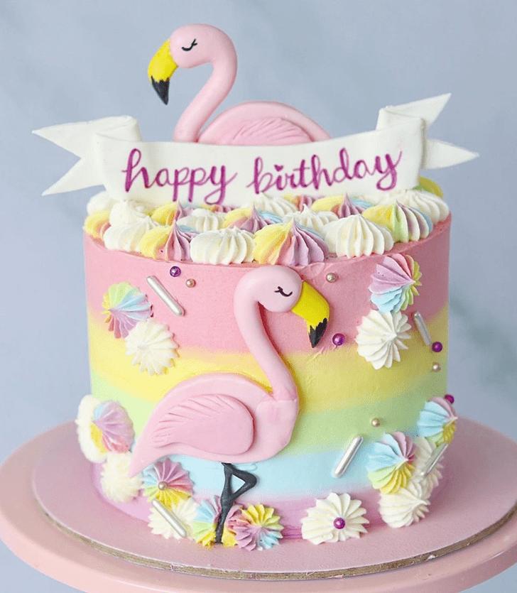 Nice Flamingo Cake