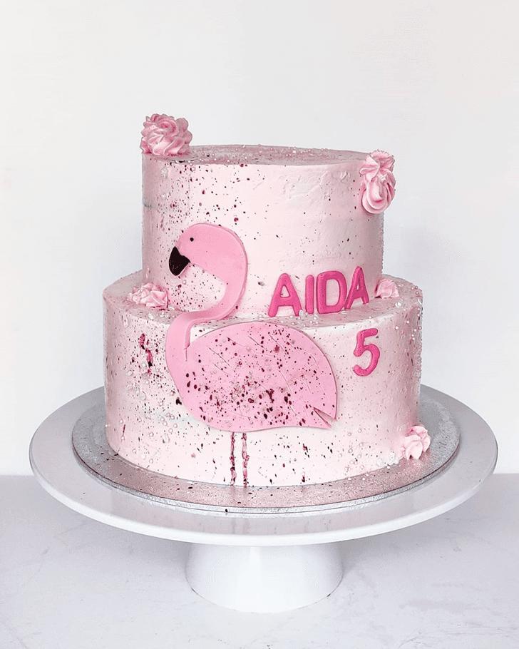 Radiant Flamingo Cake