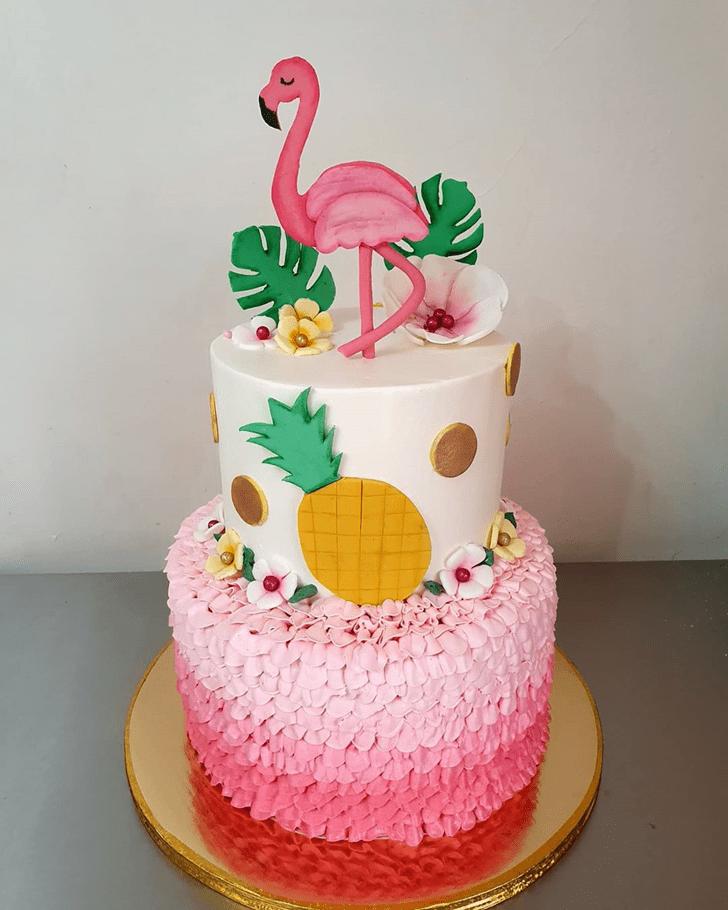 Splendid Flamingo Cake