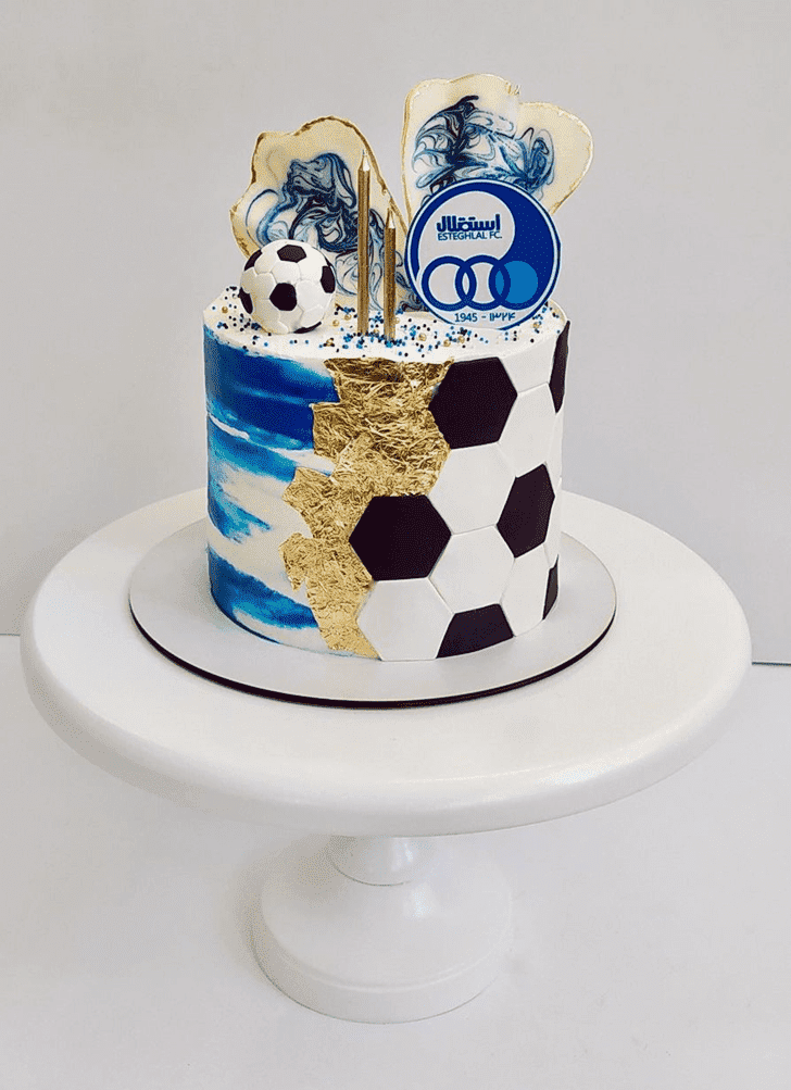 Adorable Football Cake