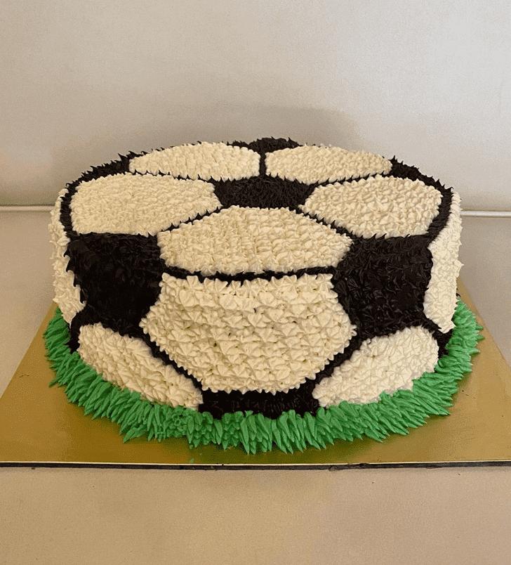 Alluring Football Cake