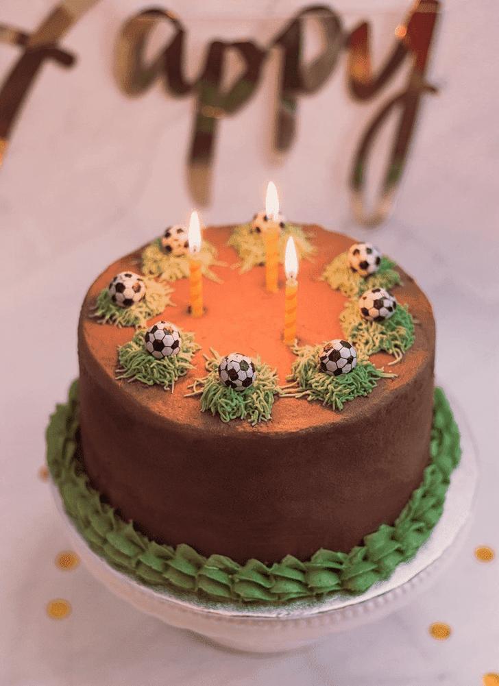 Appealing Football Cake