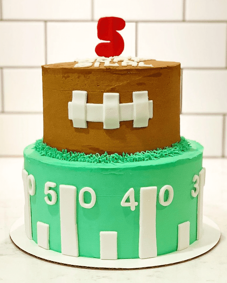 Captivating Football Cake