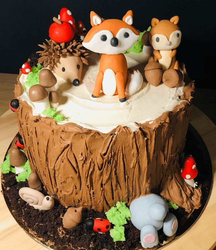 Classy Forest Cake