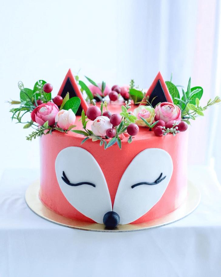 Adorable Fox Cake