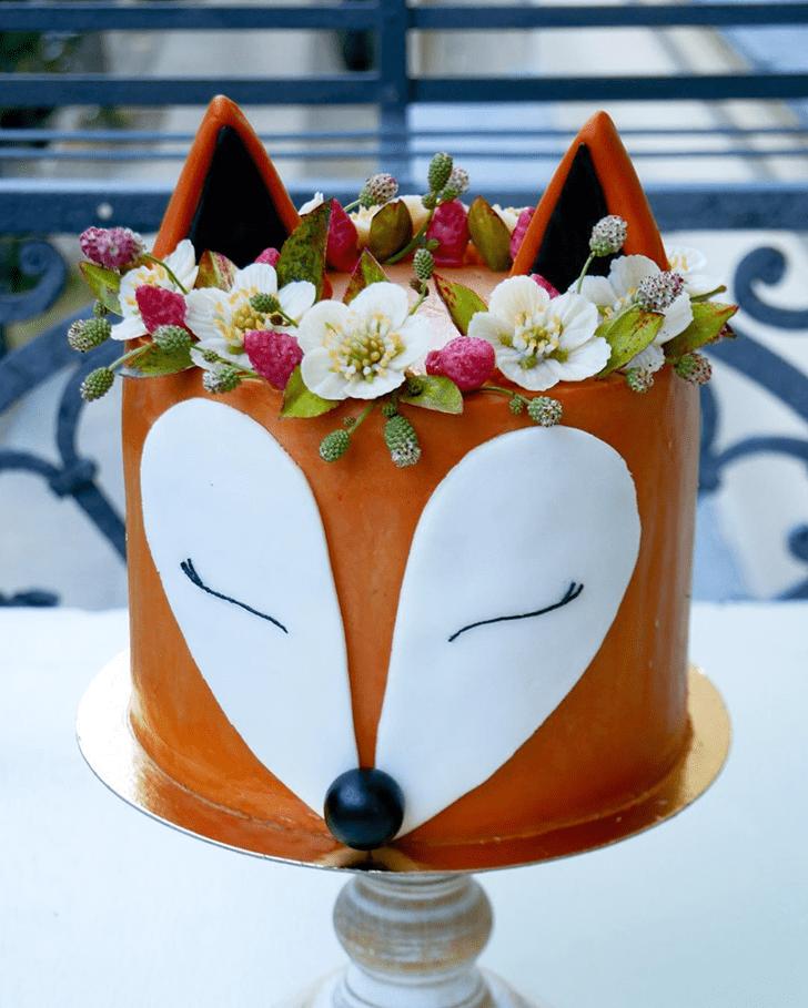Cute Fox Cake