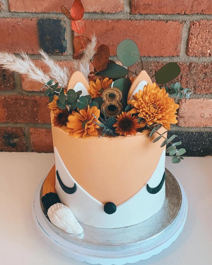Elegant Fox Cake