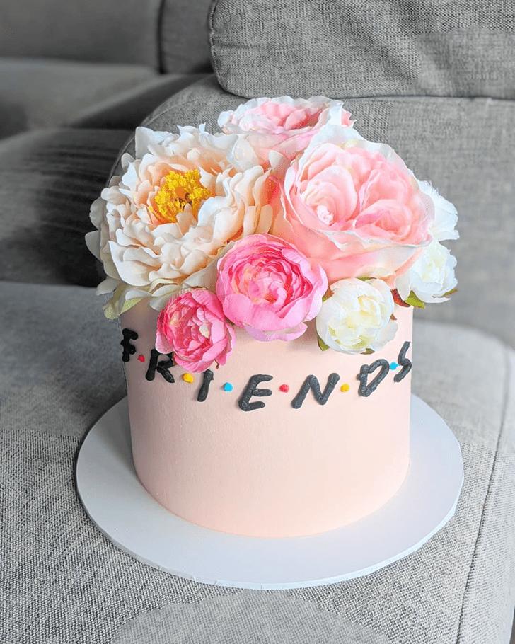 Dazzling Friends Cake
