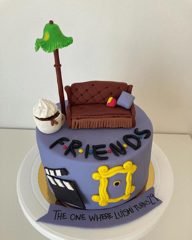 Enticing Friends Cake