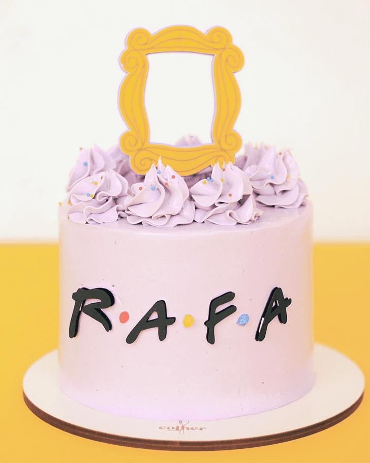 Pretty Friends Cake