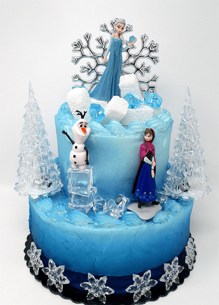 Bewitching Disneys Frozen Cake
