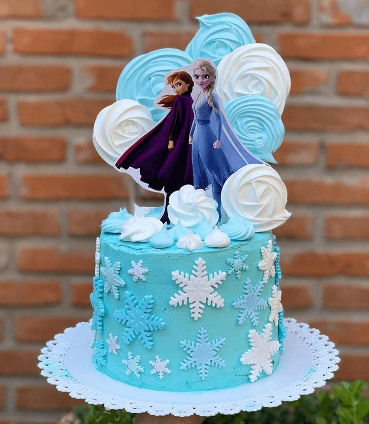 Cute Disneys Frozen Cake