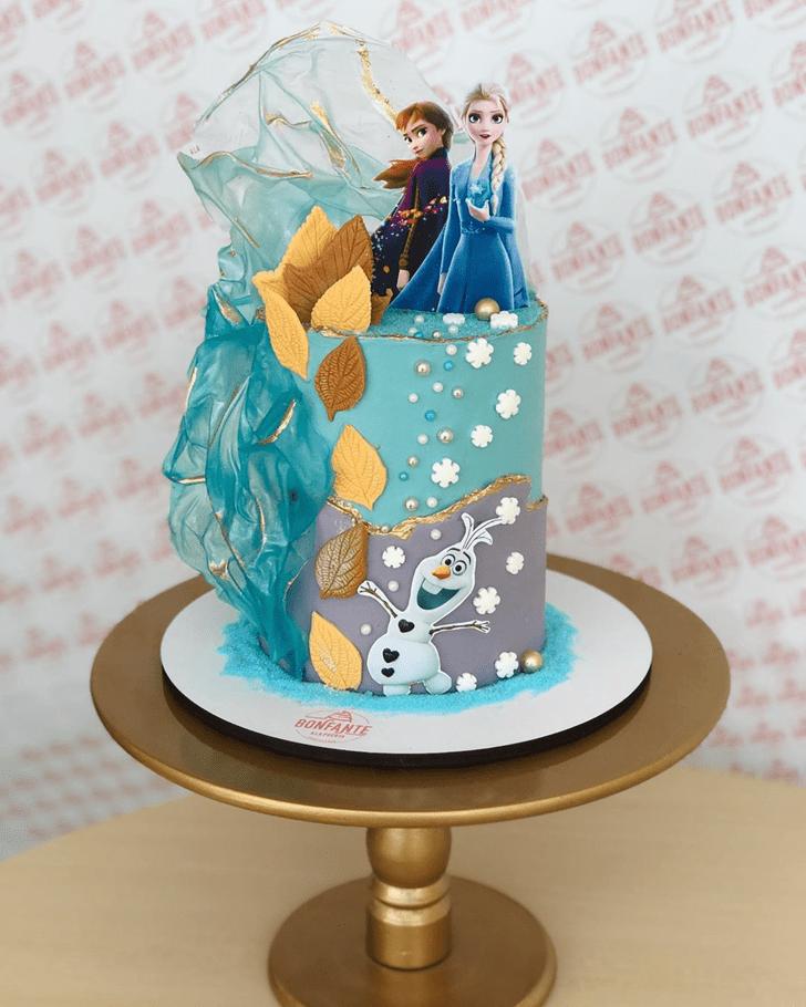 Dazzling Disneys Frozen Cake
