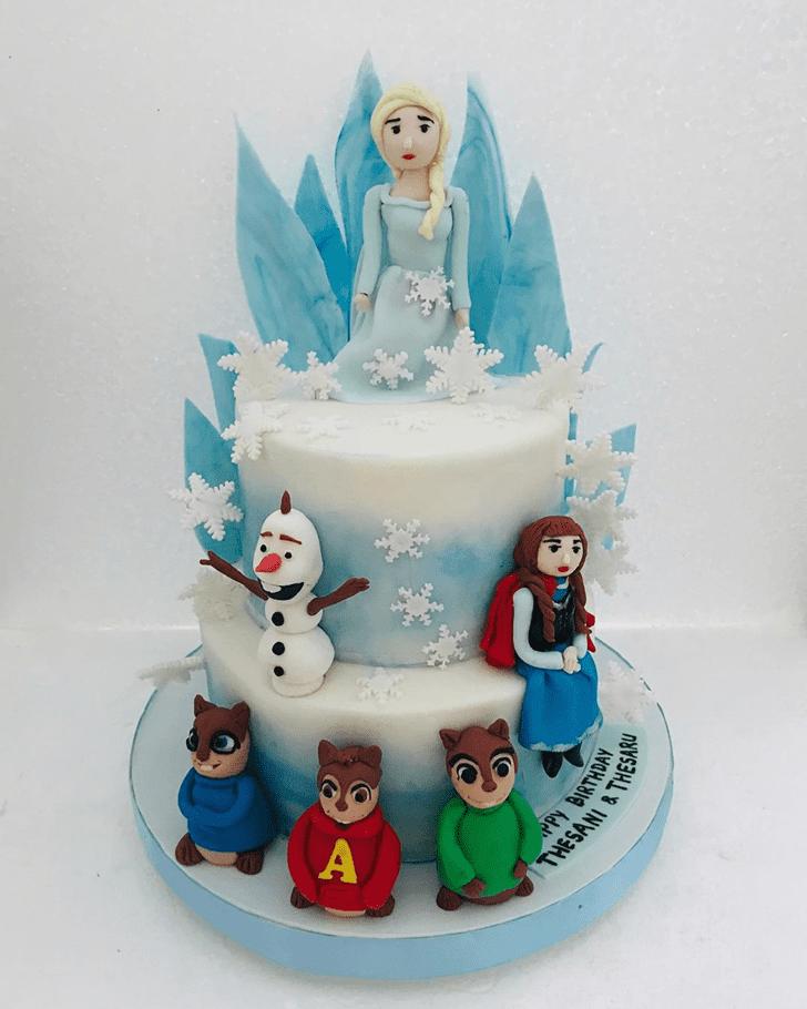 Delightful Disneys Frozen Cake