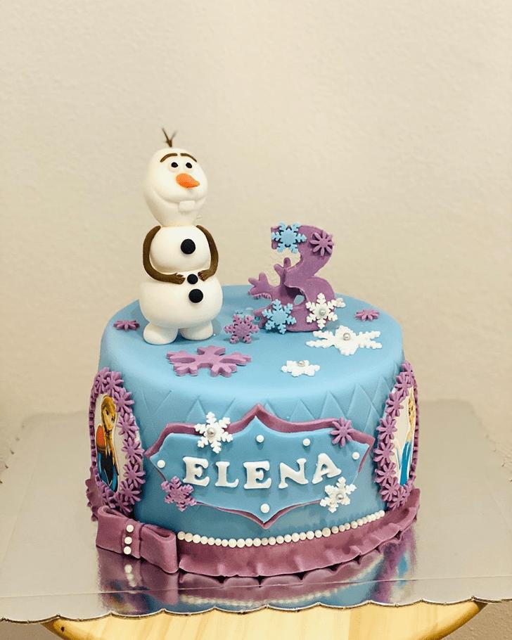 Divine Disneys Frozen Cake