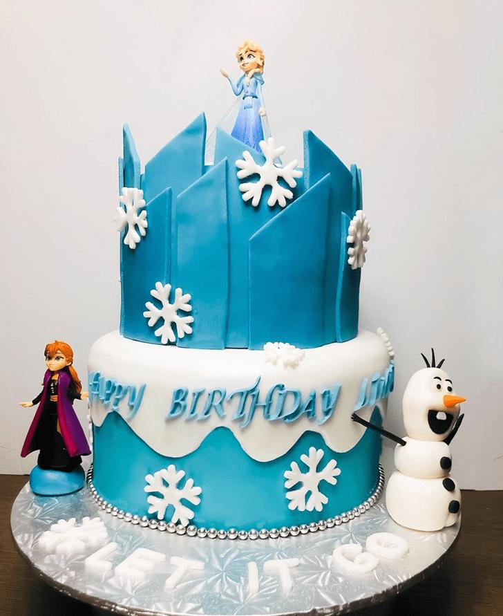 Enthralling Disneys Frozen Cake