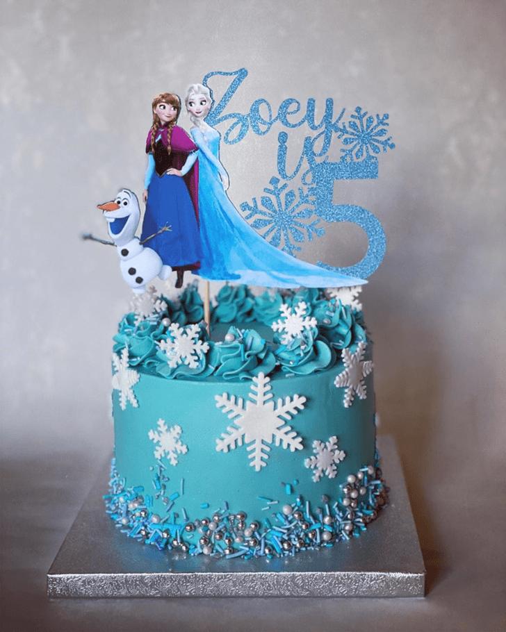 Handsome Disneys Frozen Cake