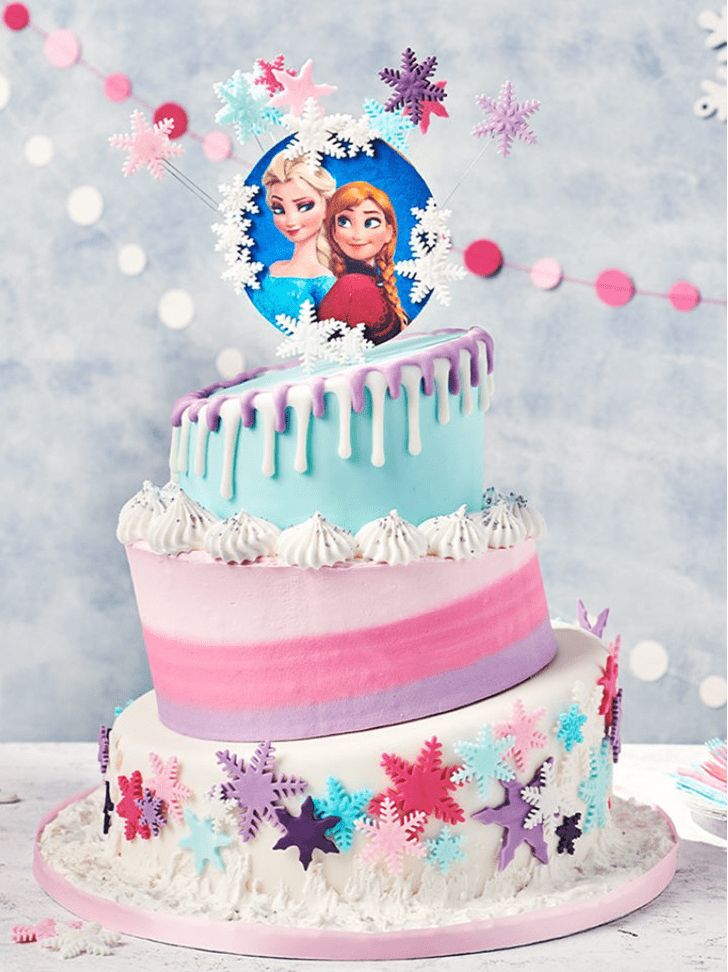 Wonderful Disneys Frozen Cake Design