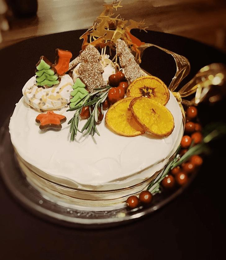 Captivating Fruits Cake