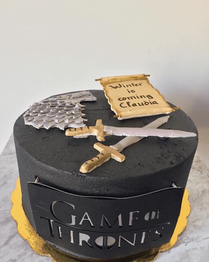 Classy Game of Thrones Cake