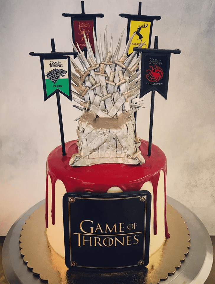Delicate Game of Thrones Cake