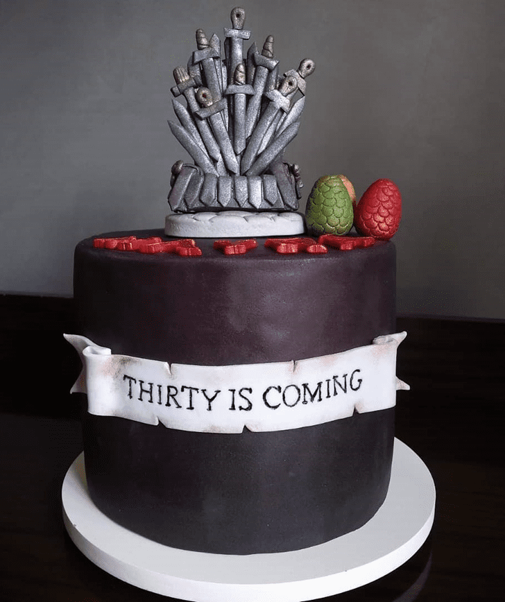 Enthralling Game of Thrones Cake
