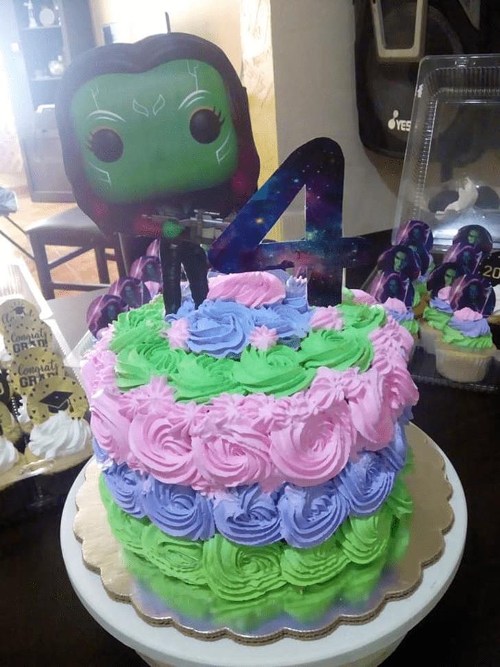 Admirable Gamora Cake Design