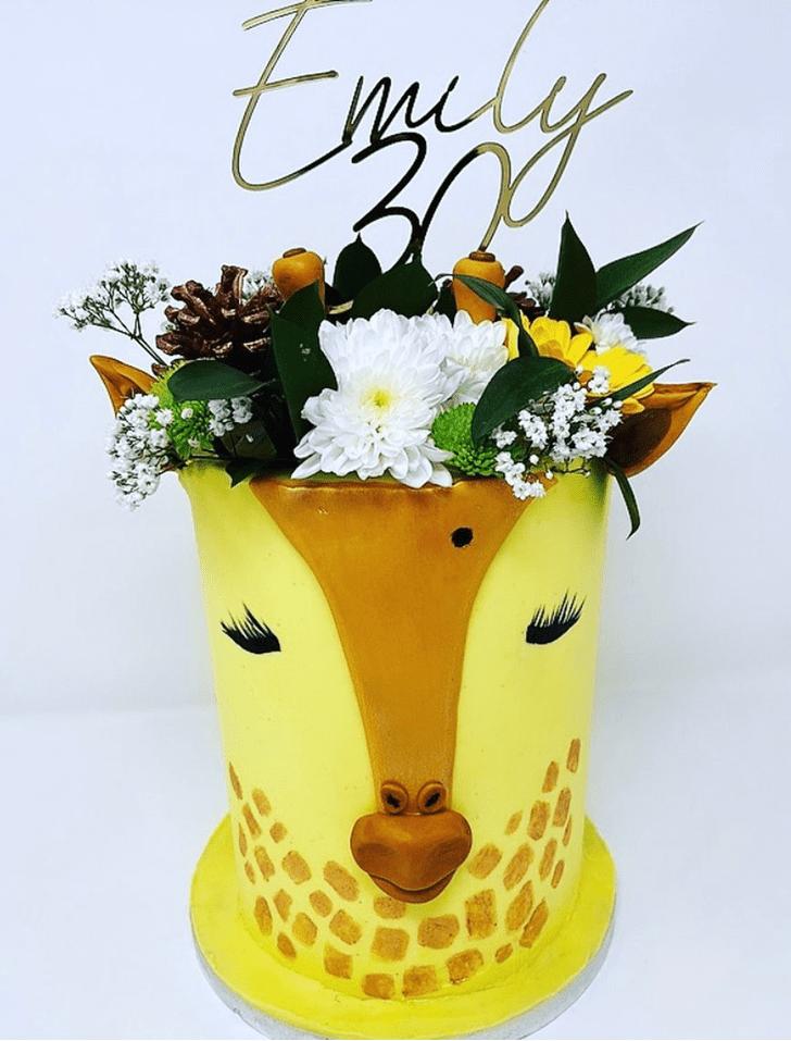 Angelic Giraffe Cake