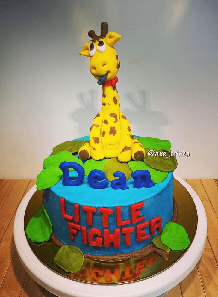 Beauteous Giraffe Cake