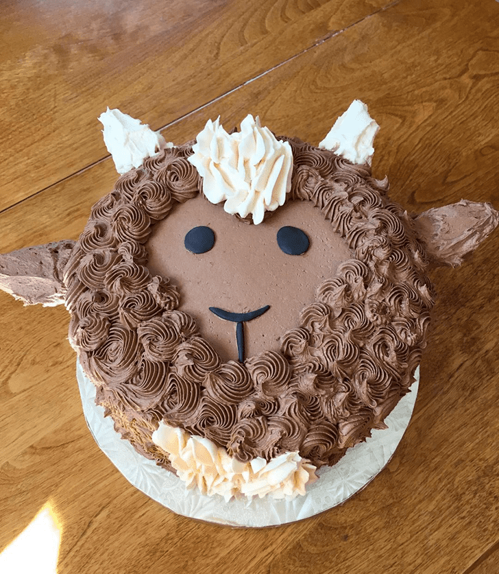 Adorable Goat Cake