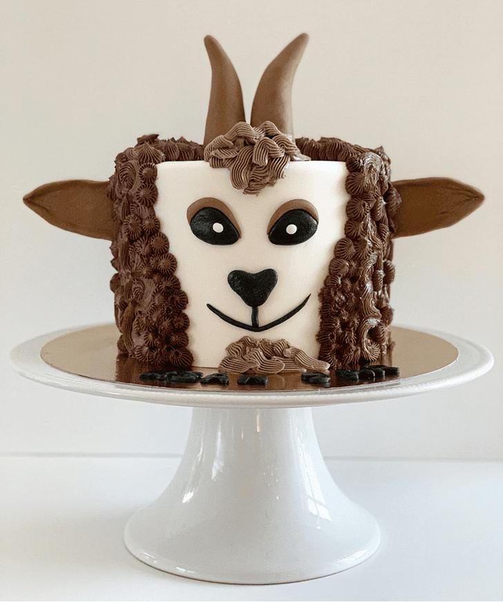 Elegant Goat Cake