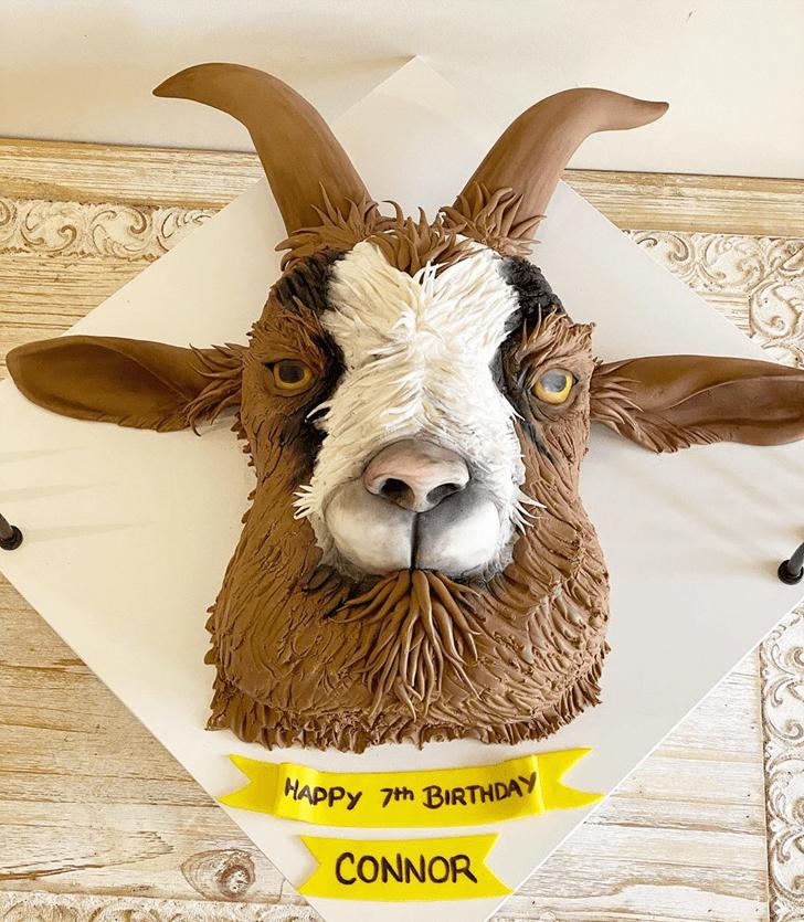 Lovely Goat Cake Design