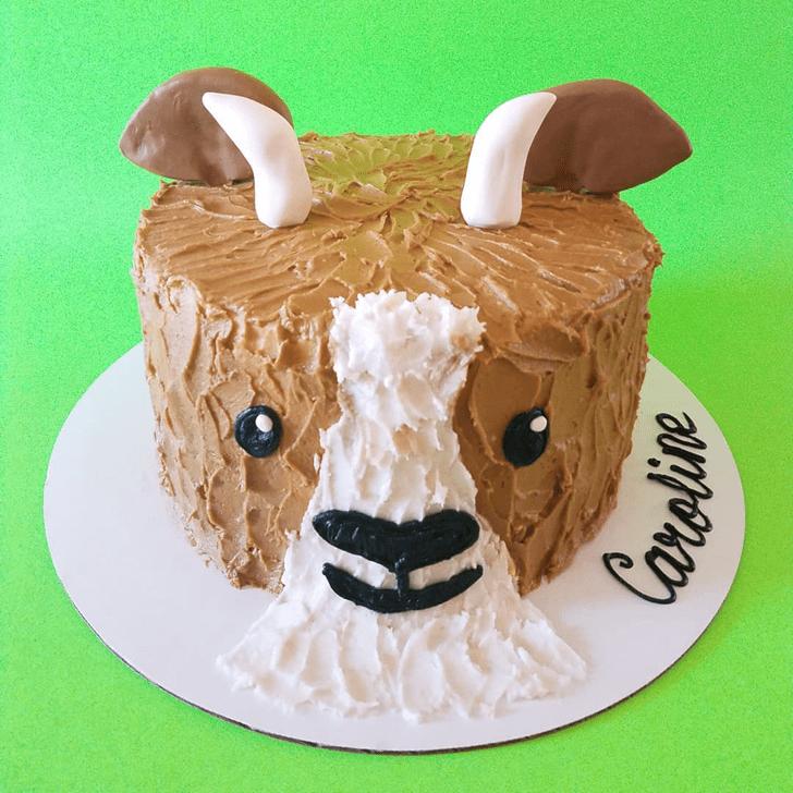 Pretty Goat Cake