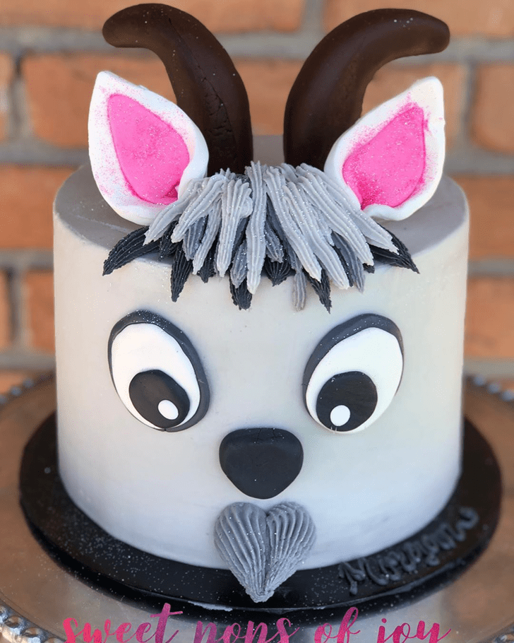Shapely Goat Cake