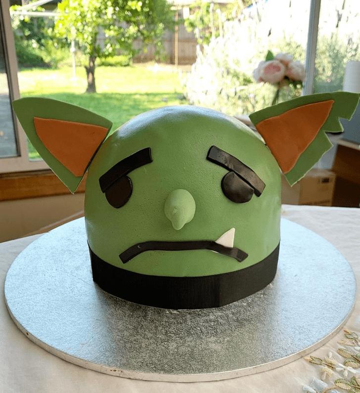 Bewitching Goblin Cake