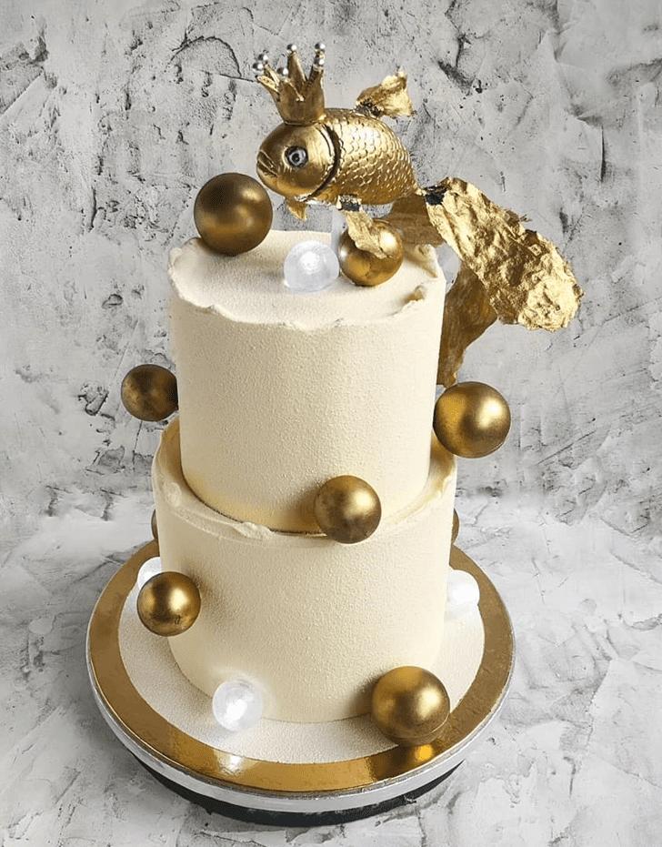 Admirable Goldfish Cake Design