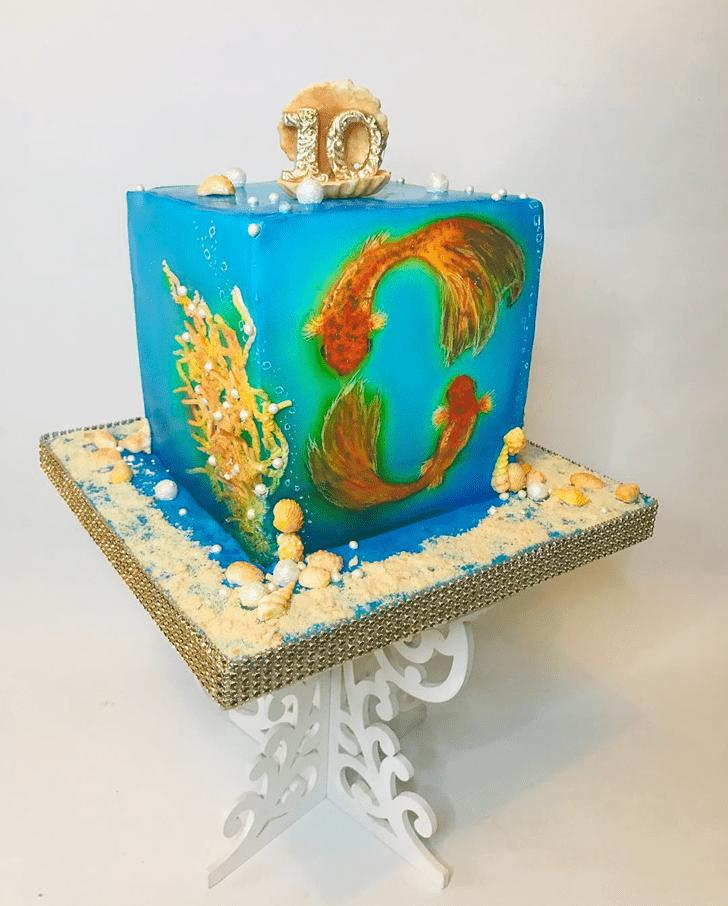 Adorable Goldfish Cake