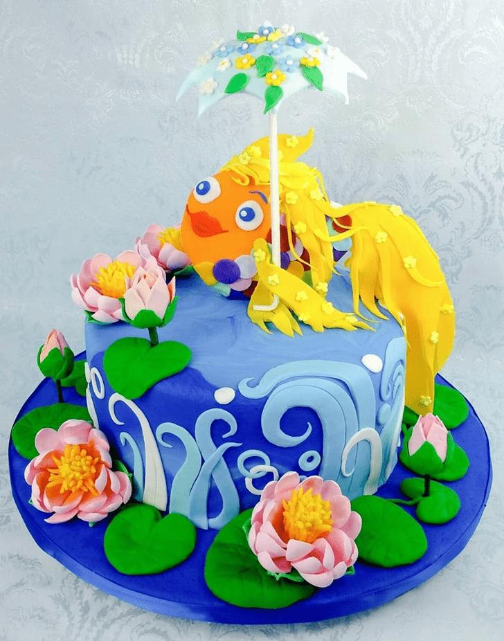 Appealing Goldfish Cake