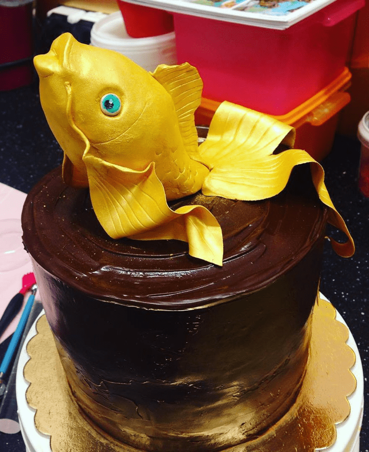Beauteous Goldfish Cake