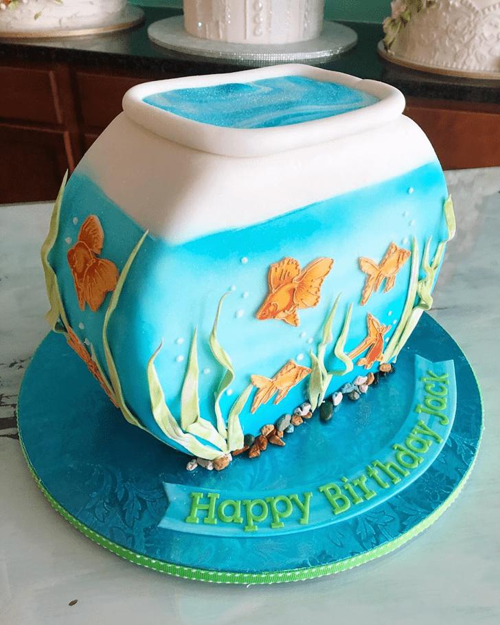 Charming Goldfish Cake