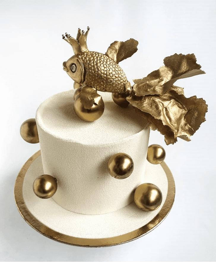 Delightful Goldfish Cake